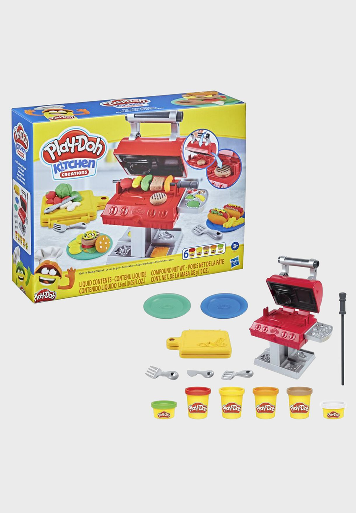 Play-Doh Kitchen Barbeque Grill And Stamp Set
