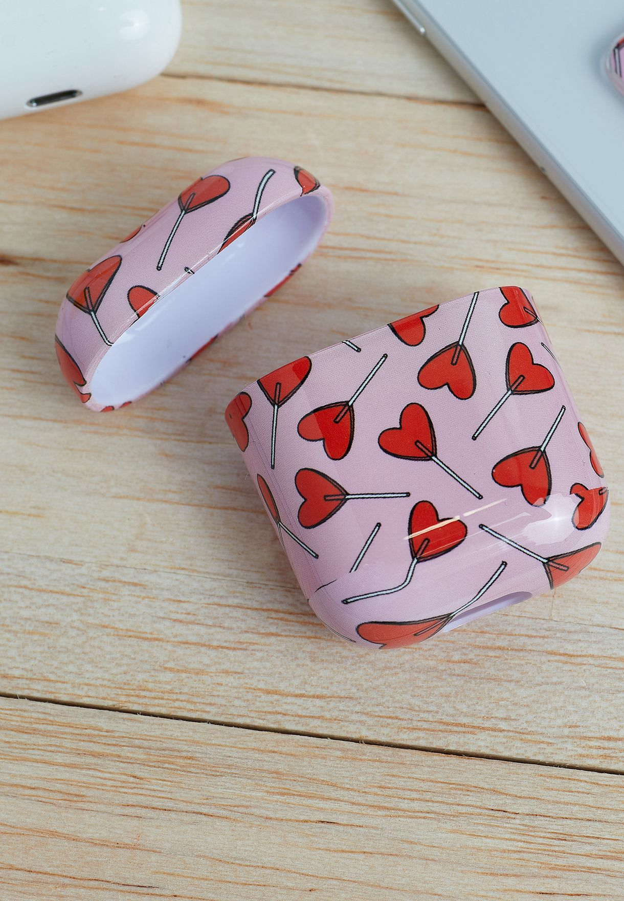 Candy Hearts Airpods Case