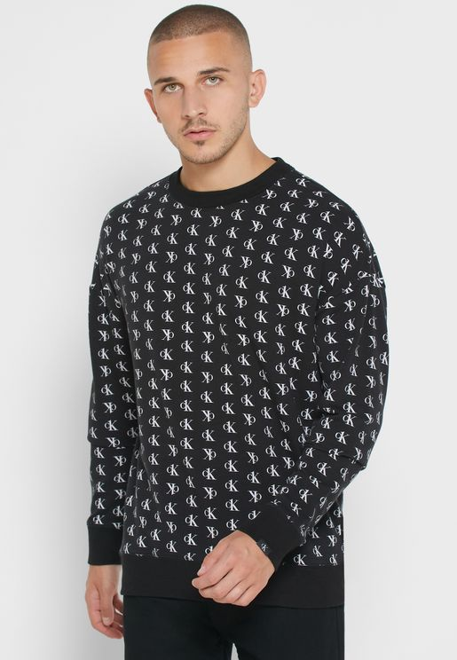 Contrast Edge Printed Sweatshirt