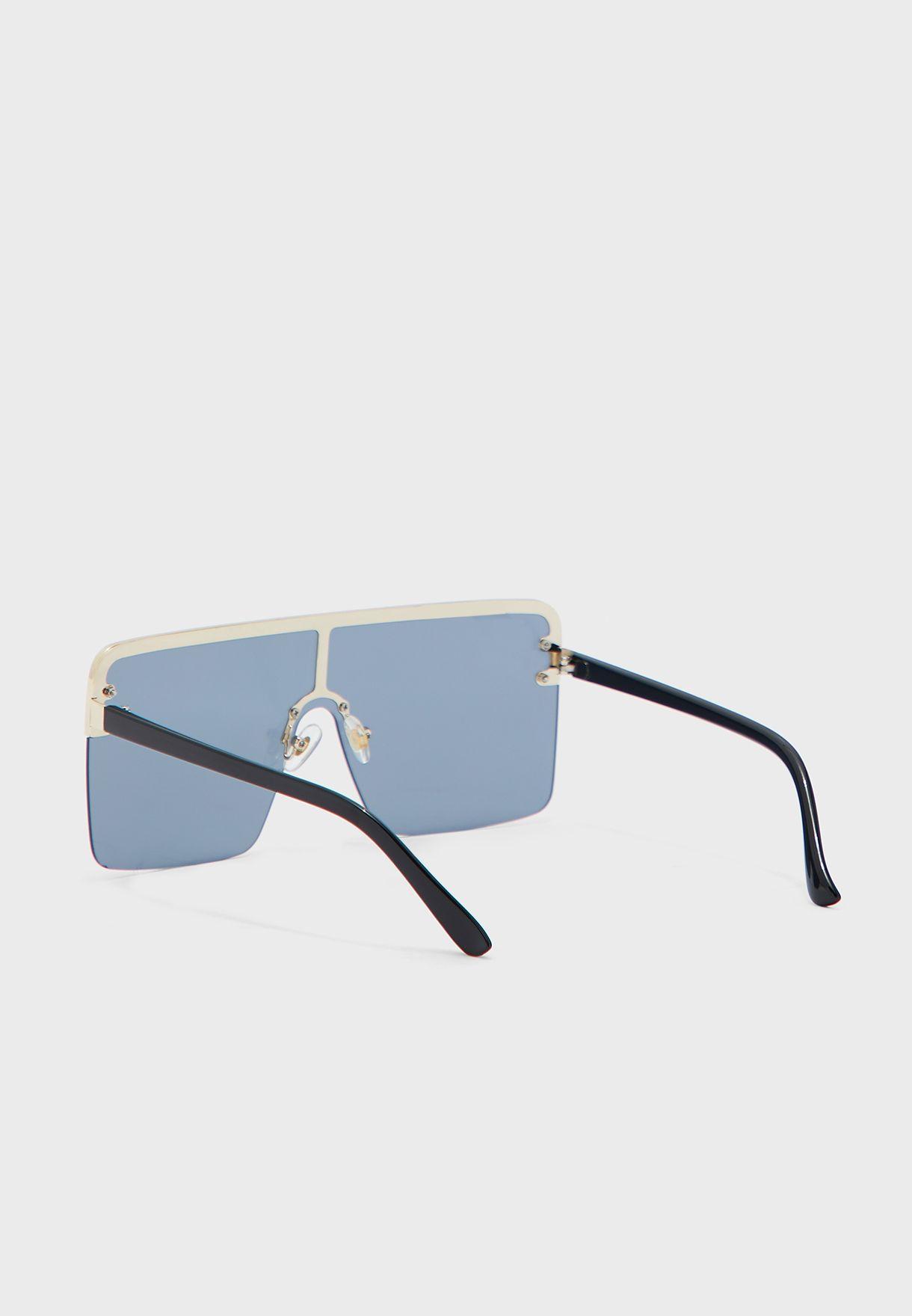 Oversized Square Shield Sunglasses