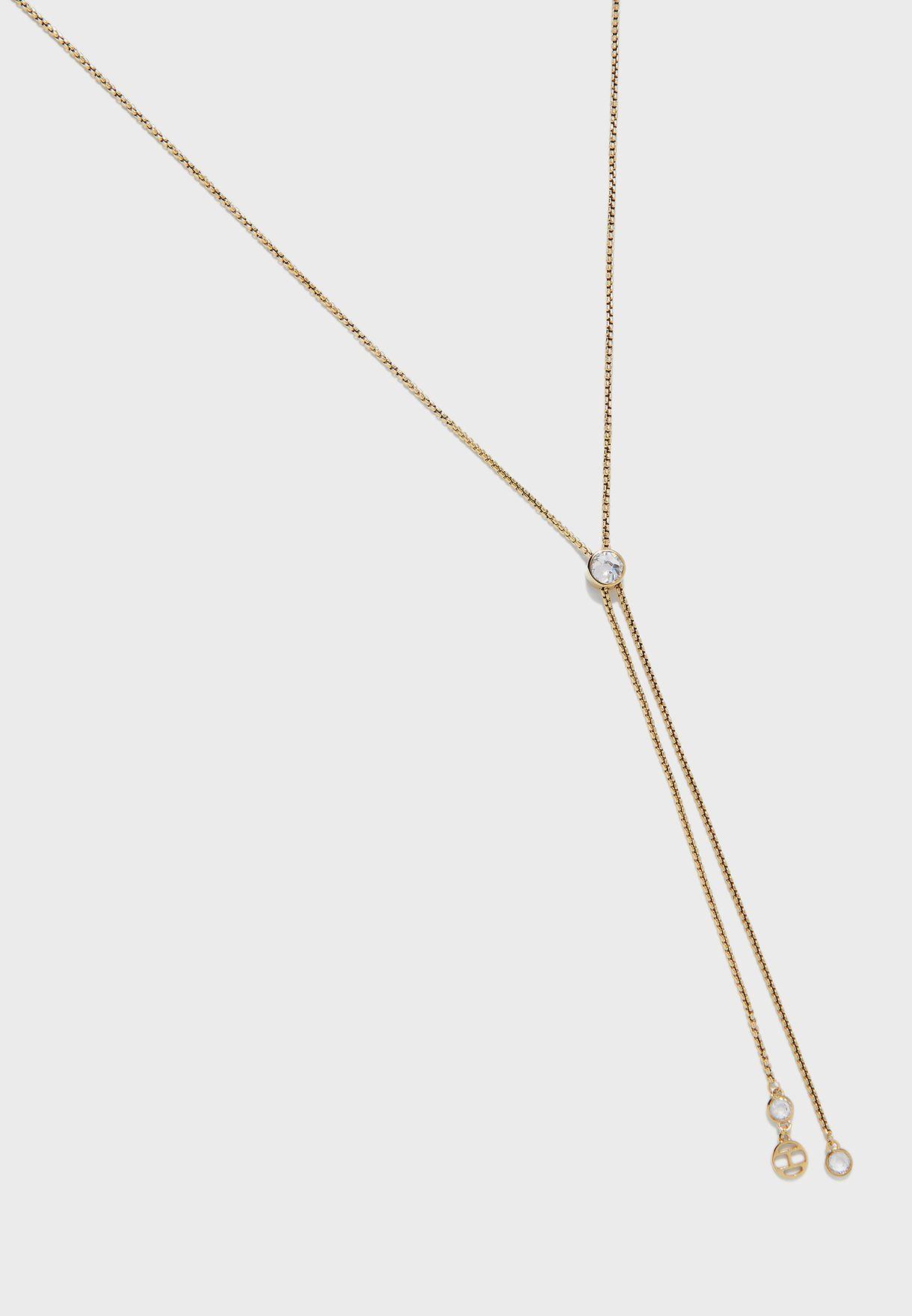 Embellished Drop Necklace