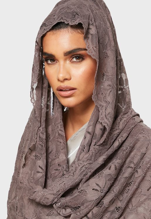 Comfortable Stretch Lace Scarf