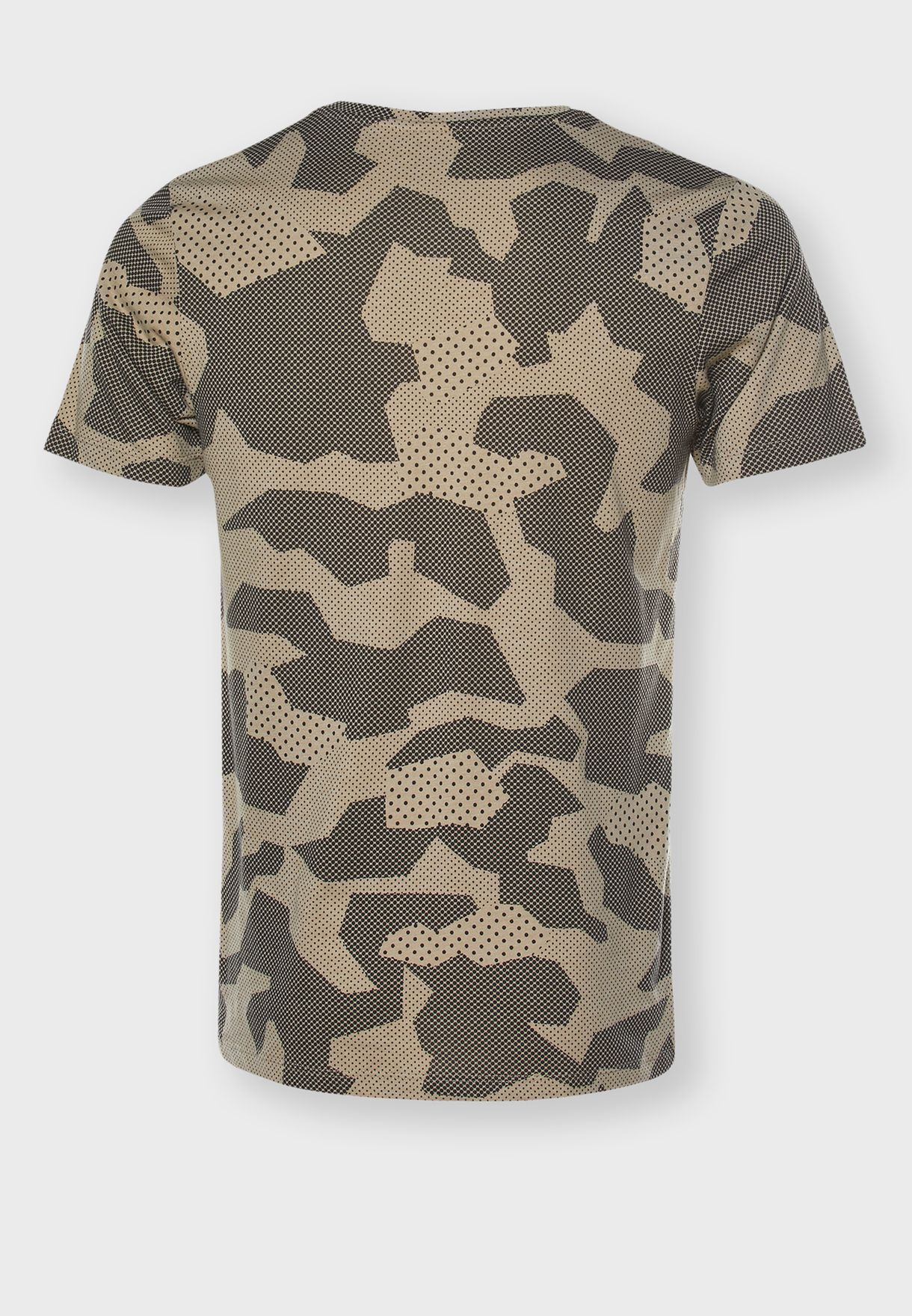Camo Slim Fit Crew Neck T-Shirt