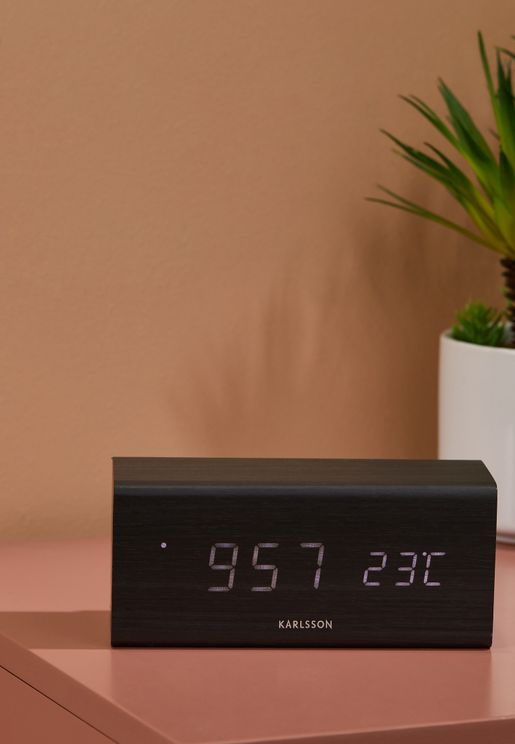 Wood Veneer Block Alarm Clock