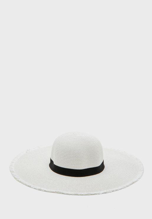Frayed Edge Floppy Hat