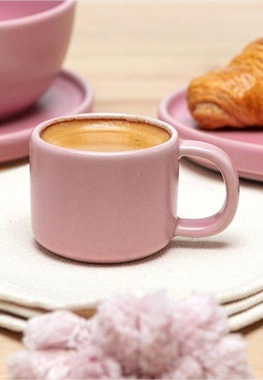 Stoneware Espresso Mugs Set Of 6
