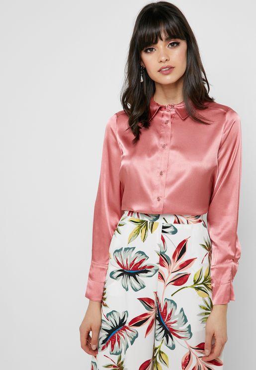 Shimmer Button Down Shirt