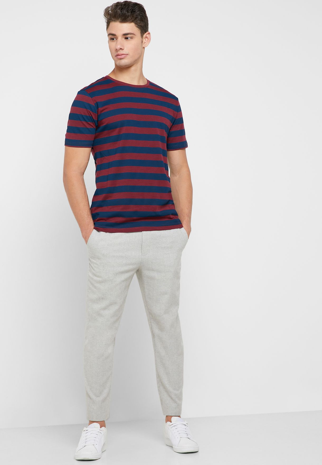 Cole Striped Crew Neck T-Shirt