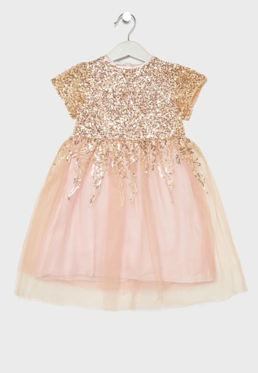 Little Sequin Detail Dress