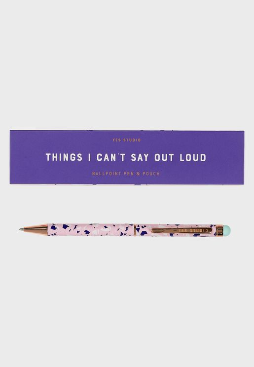 Things I Can't Say Loud Pen And Case