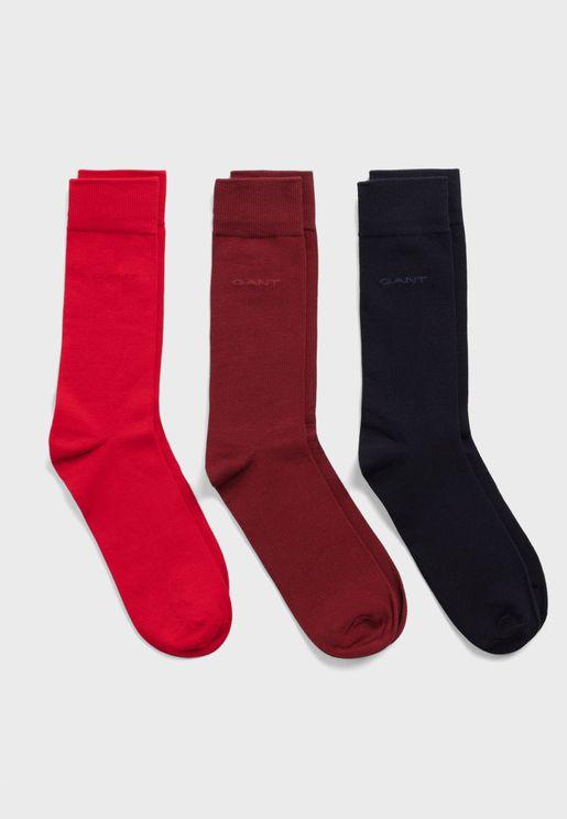 3 Pack Logo Crew Socks
