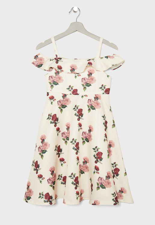 Kids Floral Print Dress