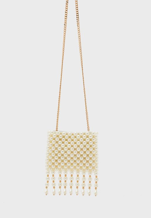 Dangly Pearl Crossbody