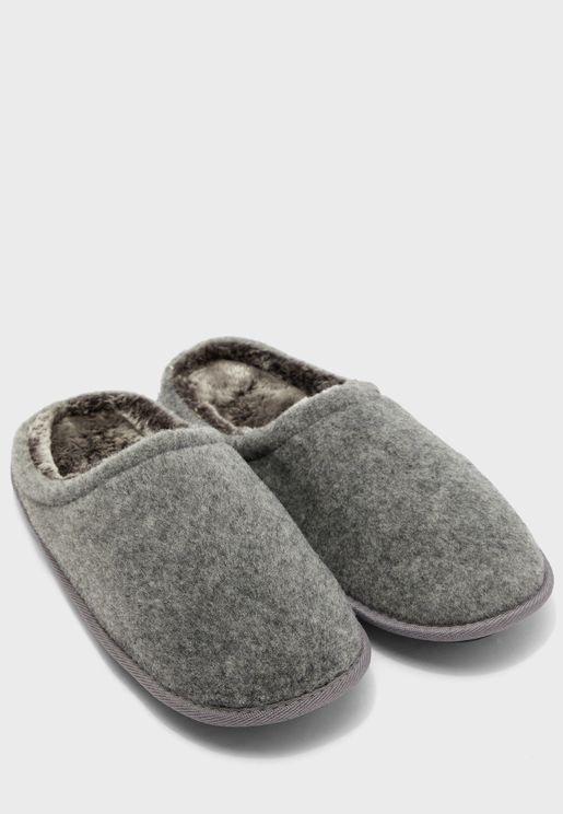 Slip Ons Wool Bedroom Slippers