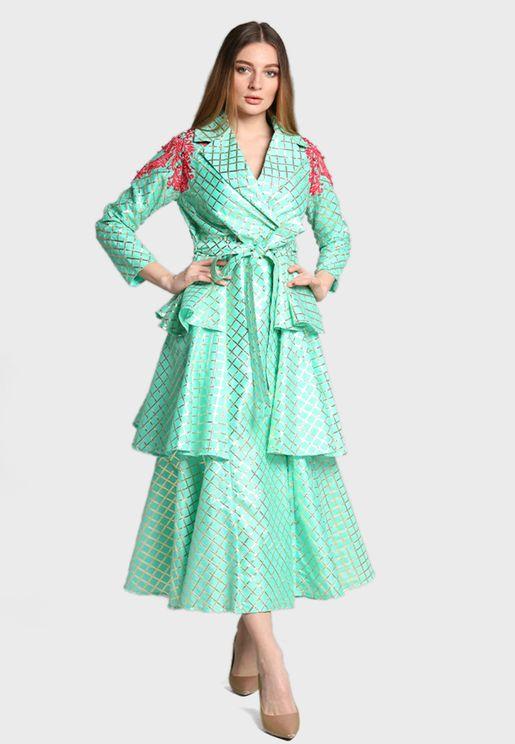 Layered Wrap Dress