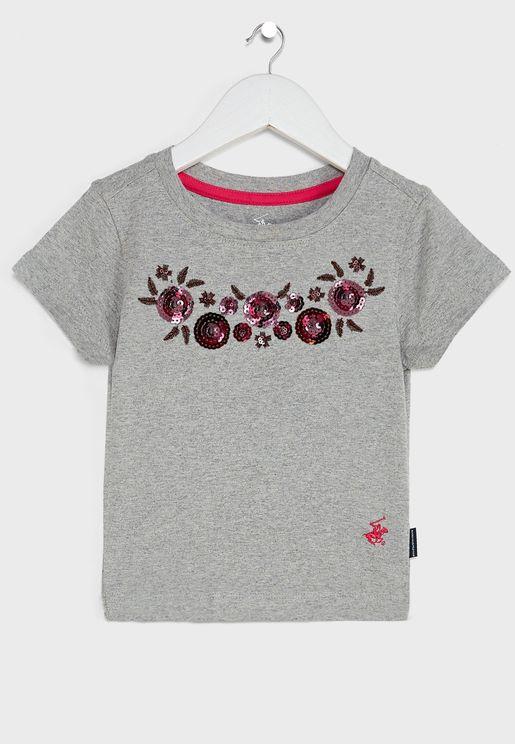 Little Sequined Art T-Shirt