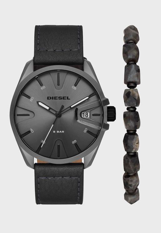 DZ1924 MS9 Analog Watch & Bracelet Gift Set