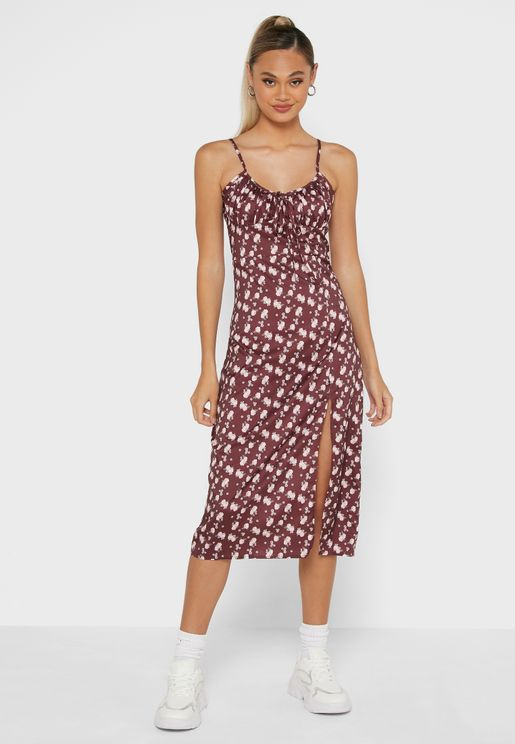 Cami Dress With Slit