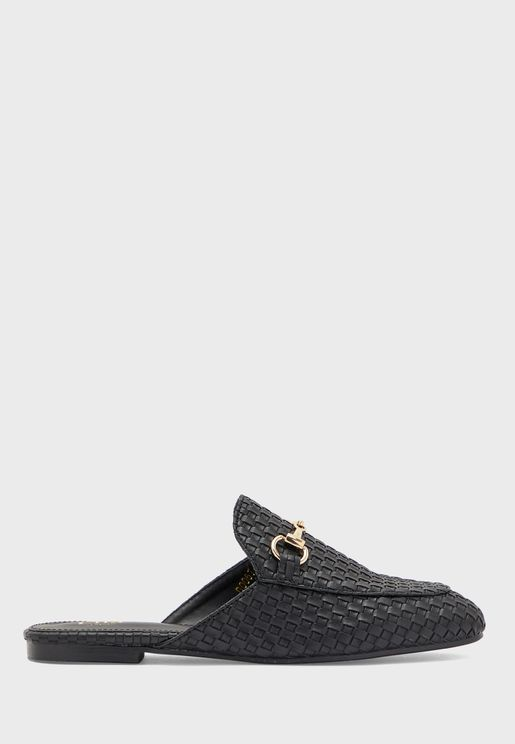 Lattice Quilted Mule Loafer