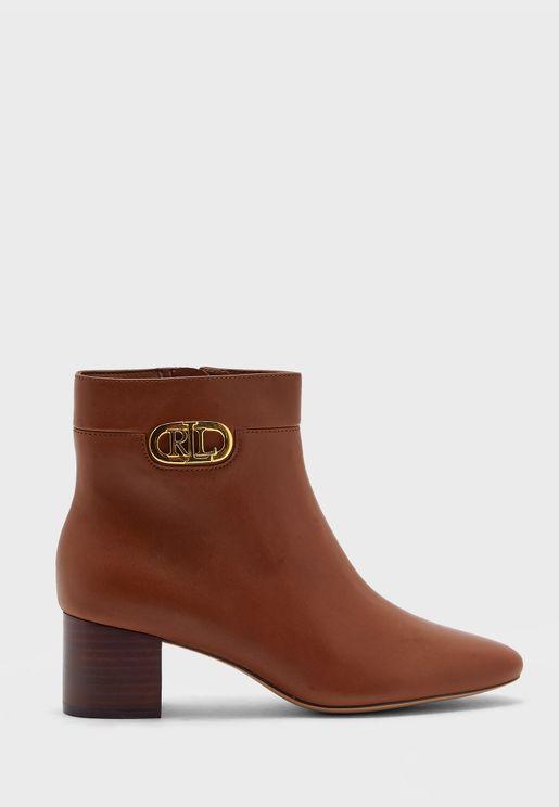 Wynne Ankle Low Heel Boots