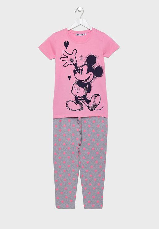 Teen Mickey Love Pyjama Set