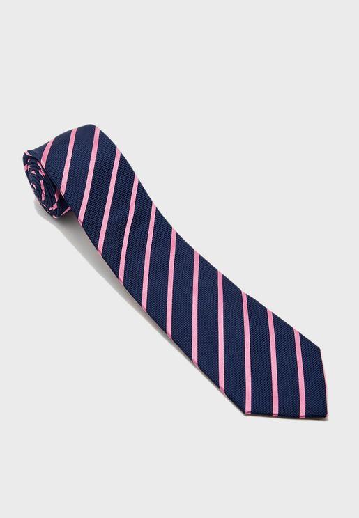 Textured Satin Stripe Tie