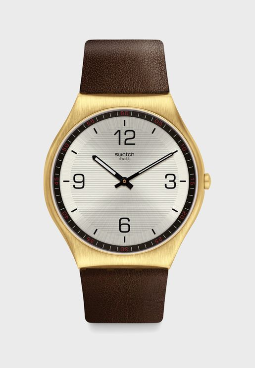 Skin Suit Coffee Analog Watch