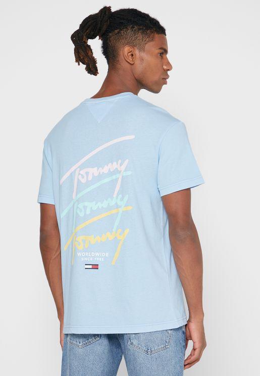 Repeat Logo Crew Neck T-Shirt