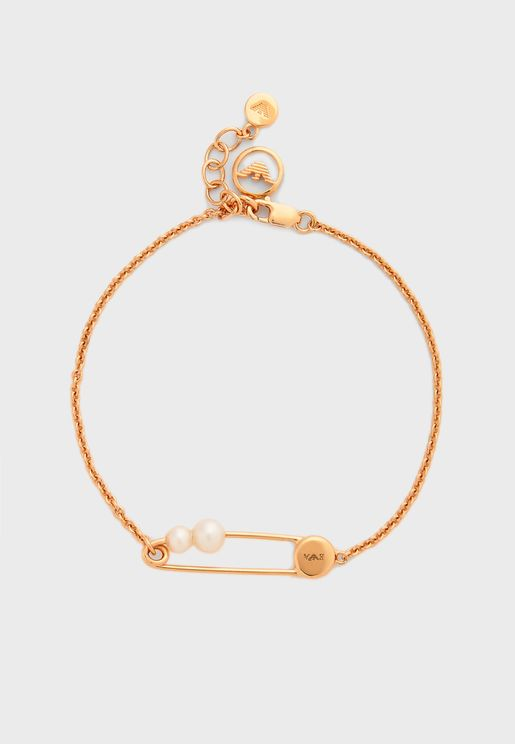 Pearl Detail Chain Link Bracelet