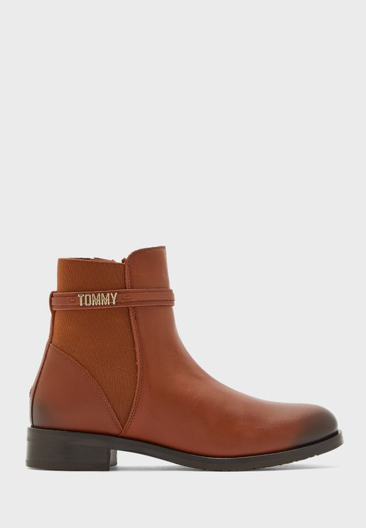 Block Branding Ankle Boot