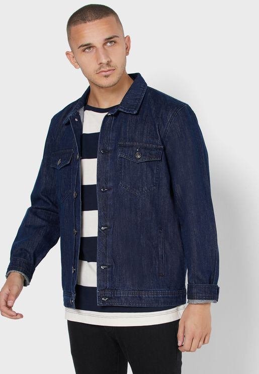 Button Detail Denim Jacket