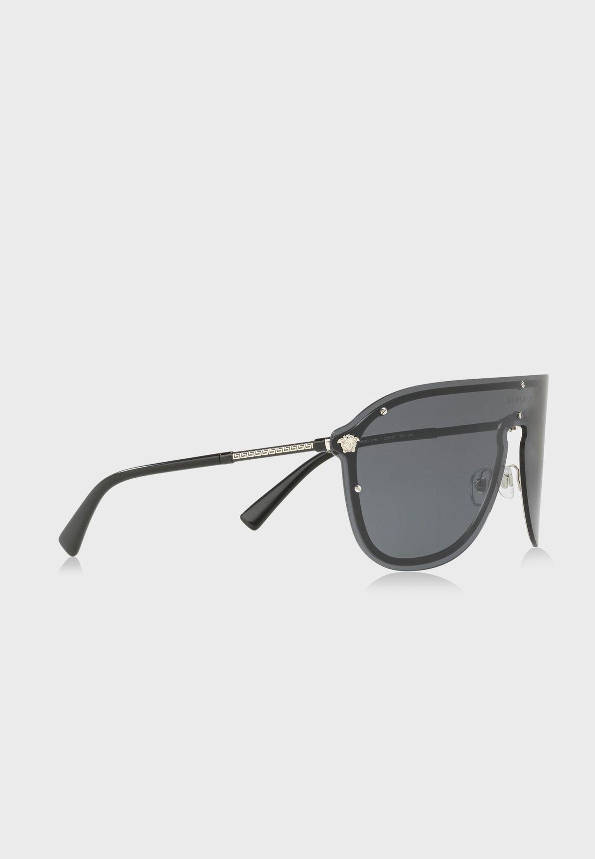 نظارة شمسية بإطار كبير