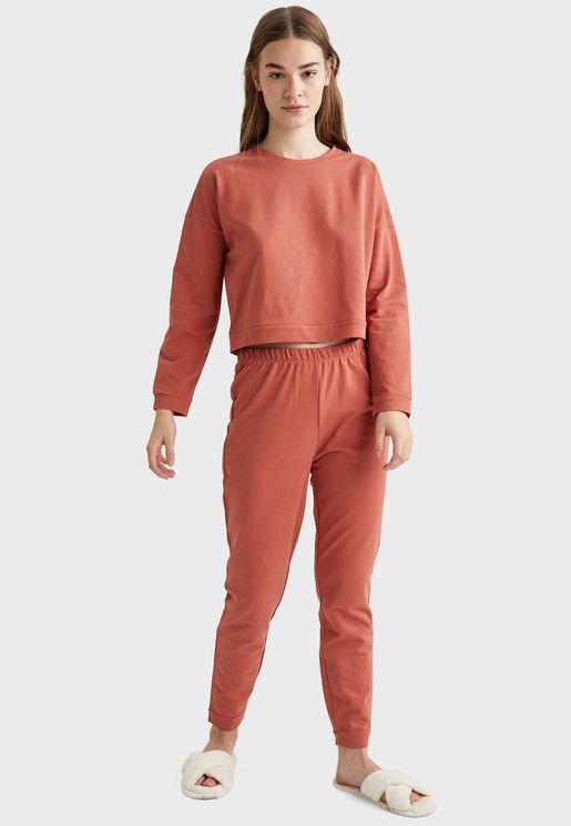Classic Sweatshirt & Pyjama Set