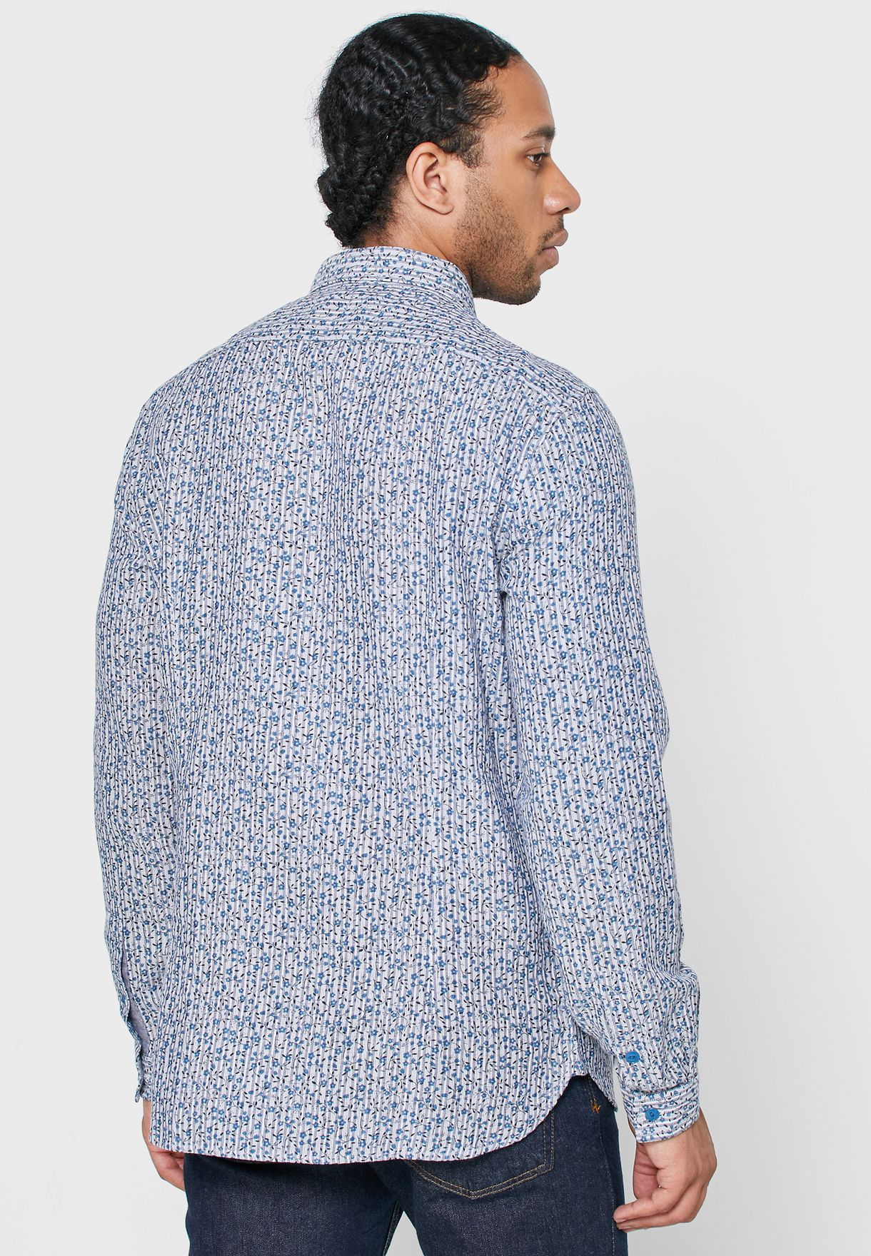 Neil Ditsy Print Regular Fit Shirt