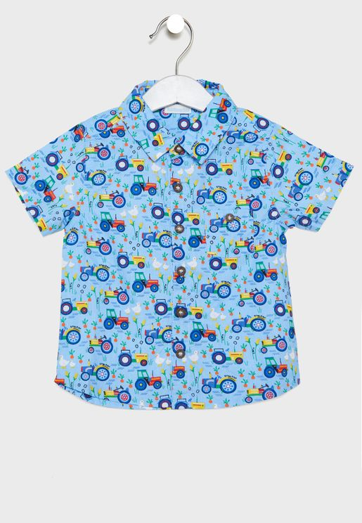 Kids Farm Print Shirt