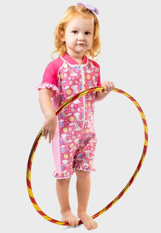 Infant Rainbow Print Swimsuit