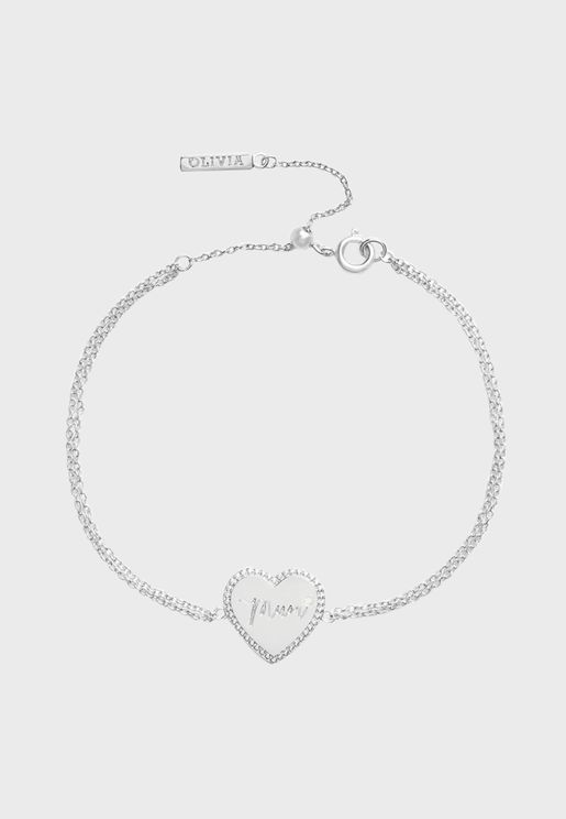 OBJLHB12 Mum Heart Bracelet