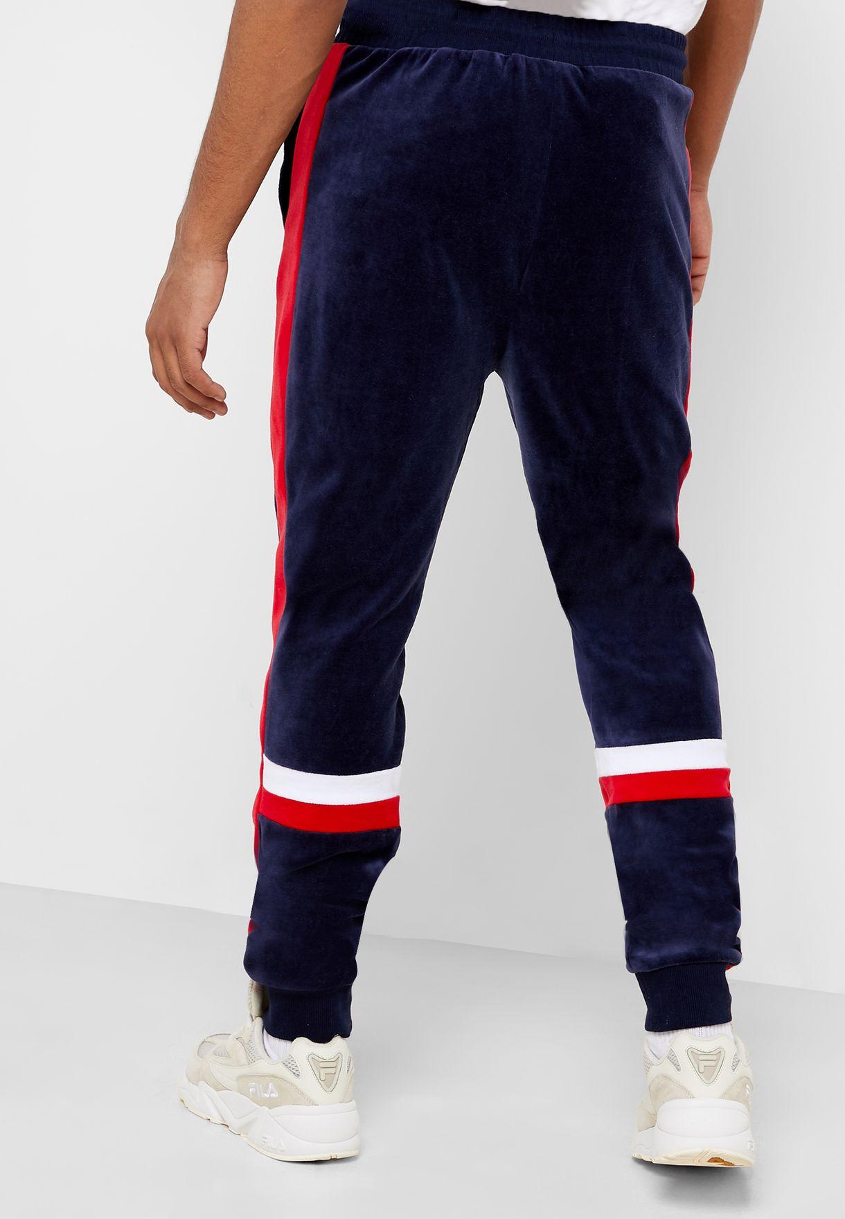 Silvano Velour Track Pants