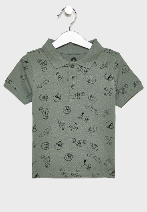Kids Printed Polo