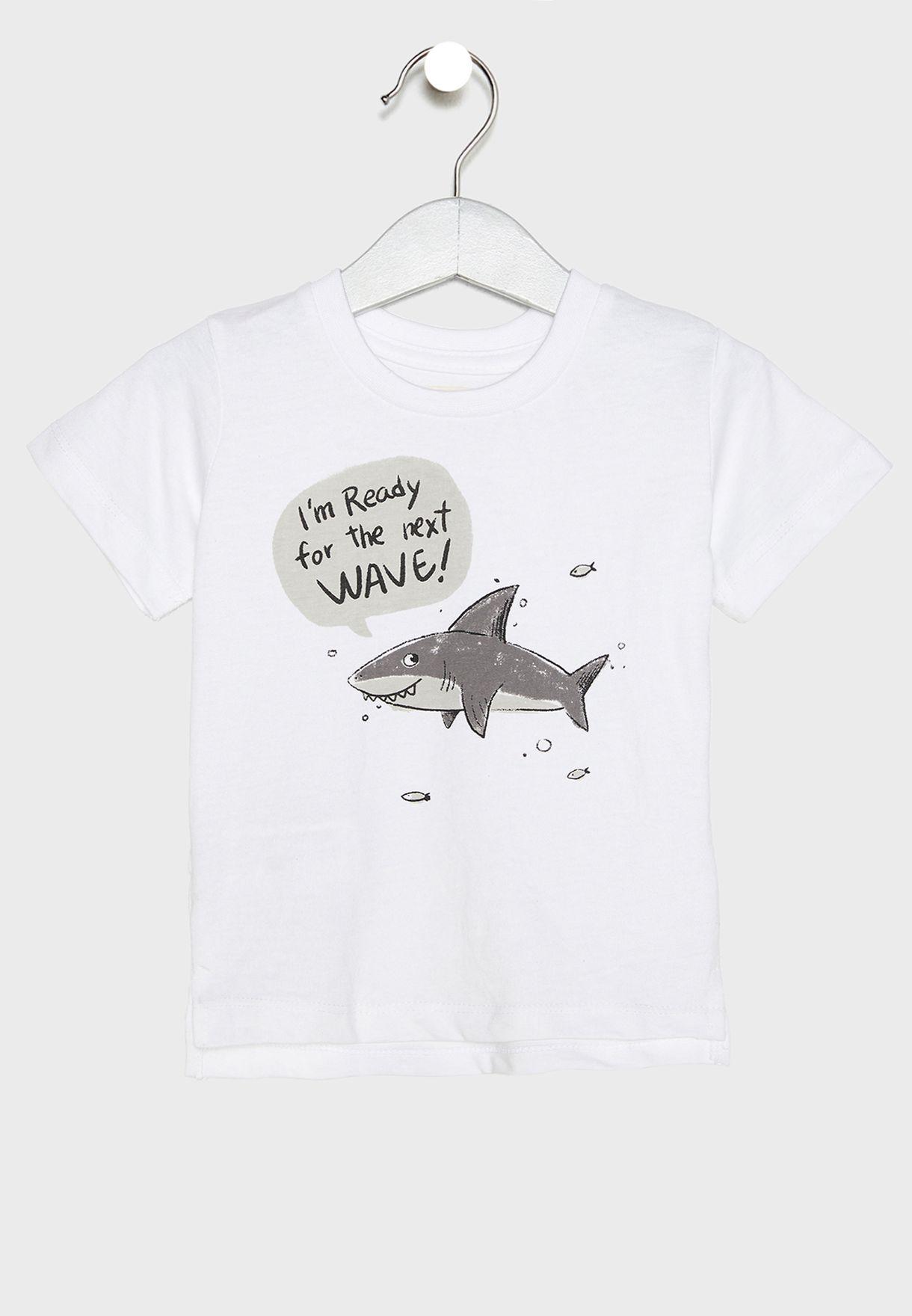 Infant Shark Graphic T-Shirt