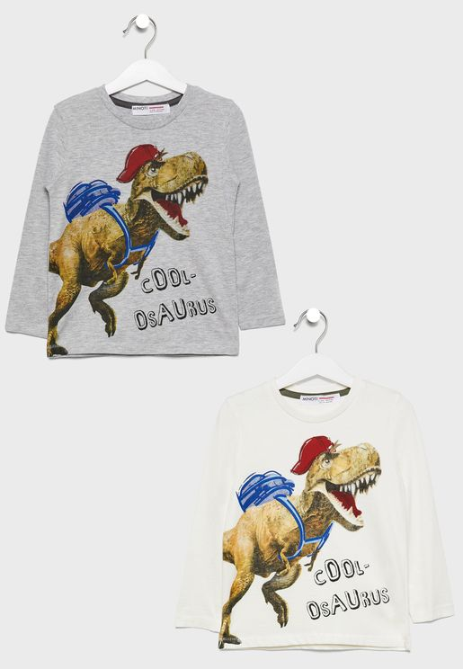 Little 2 Pack Dinosaur T-Shirt
