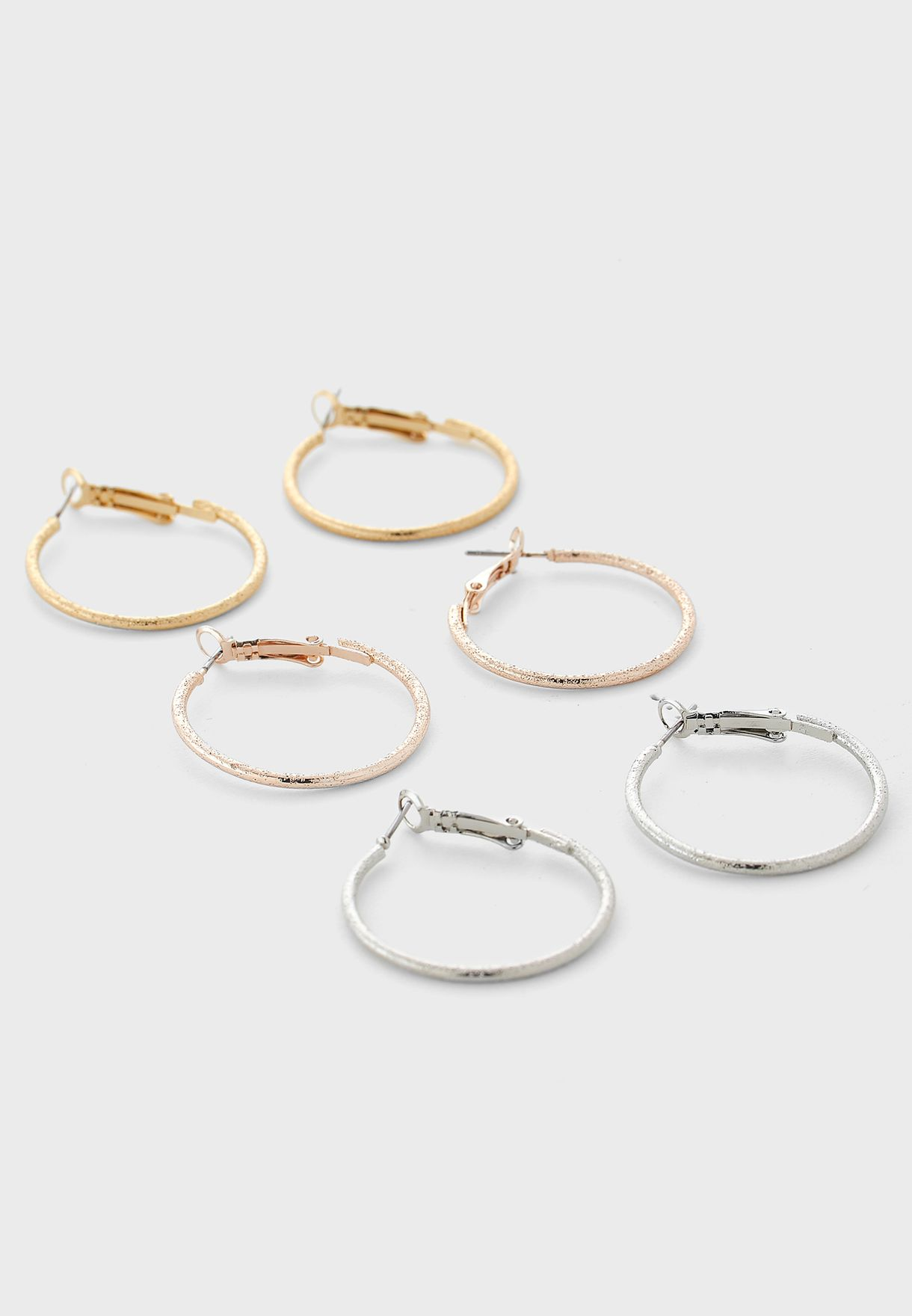Set Of 9 Hoop And Studs
