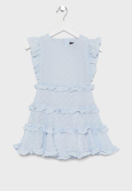 فستان شفاف بكشكش