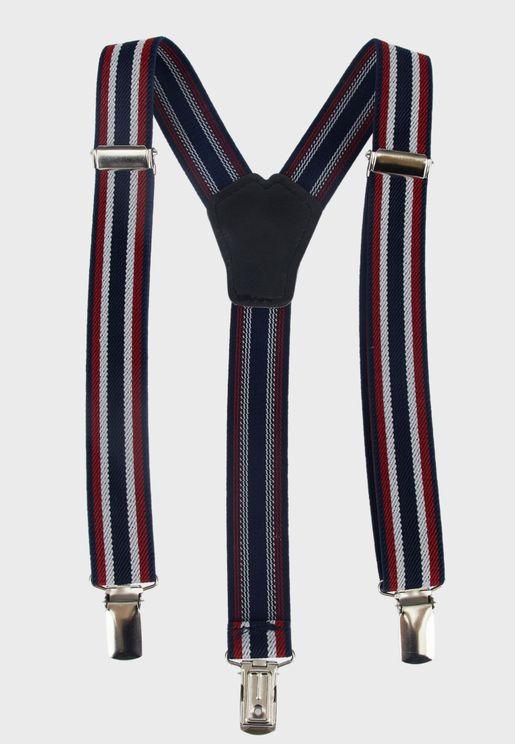 Kids Striped Suspender