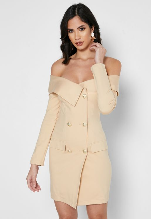 Bardot Double Breasted Blazer Dress