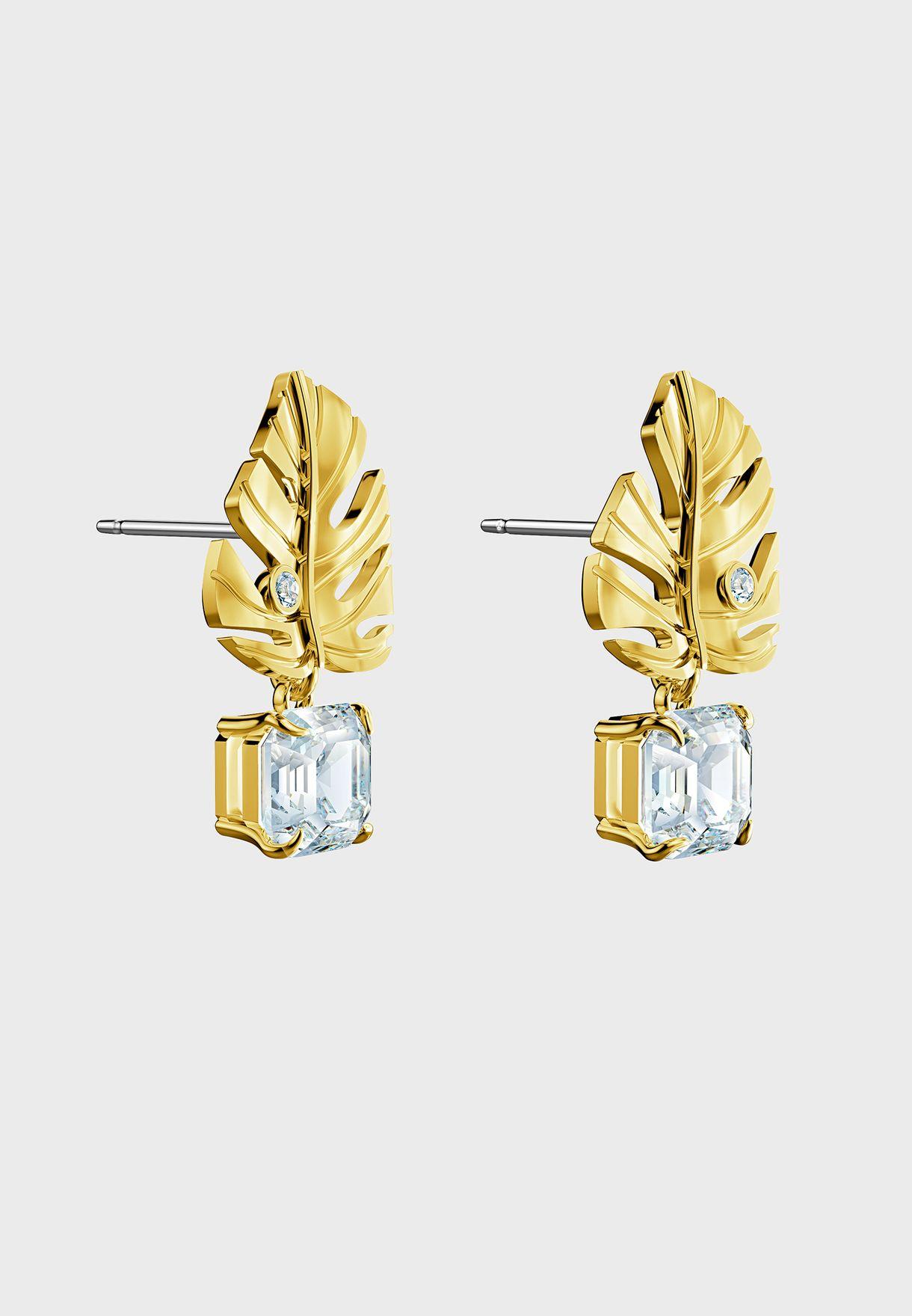 Tropical Leaf Detail Stud Earrings