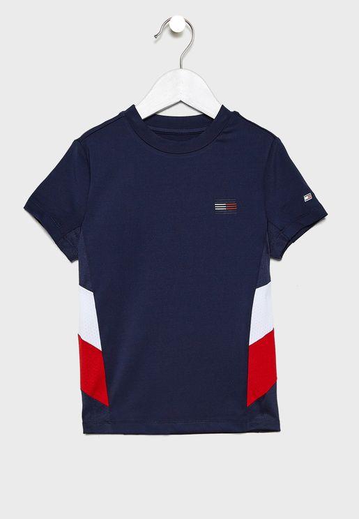 Kids Logo Colour Block T-Shirt