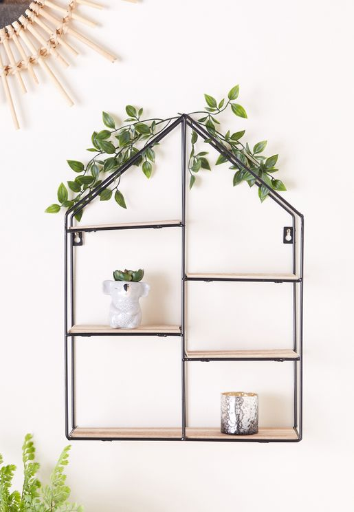 Large House Shaped Wall Shelf