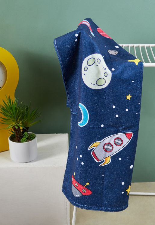 Kids Space Printed Towel