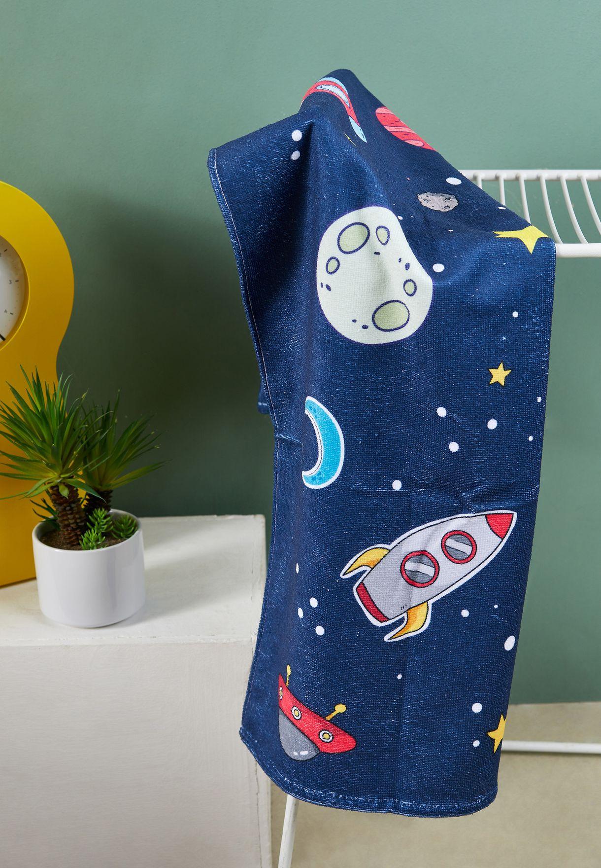 Kids Space Printed Towel